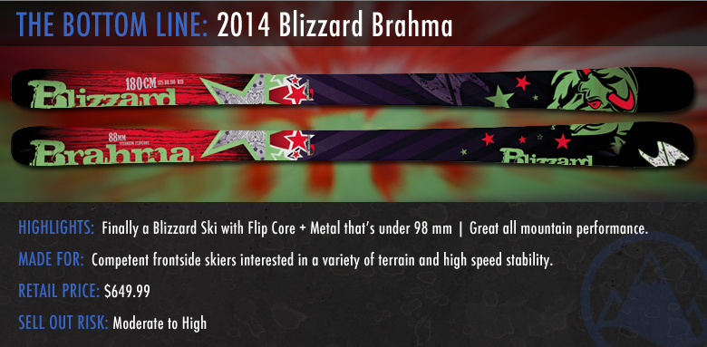 2014 Blizzard Brahma Ski Review: The Bottom Line