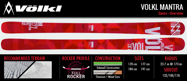 The 2015 Volkl Mantra: Your New All Mountain Escort: Specification Image