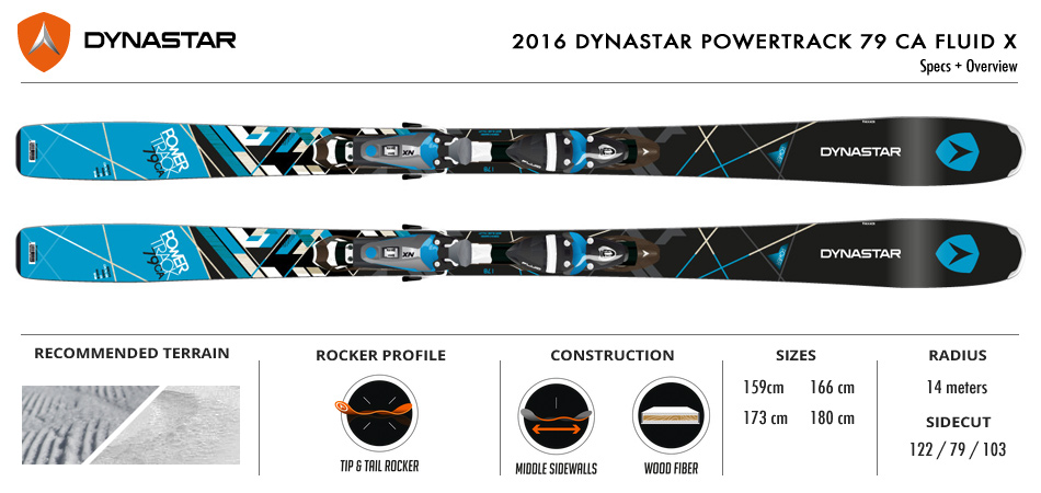 The 2016 Dynastar Powertrack 79 Ca Fluid X Ski Review: High Tech, Low Price: Ski Specs