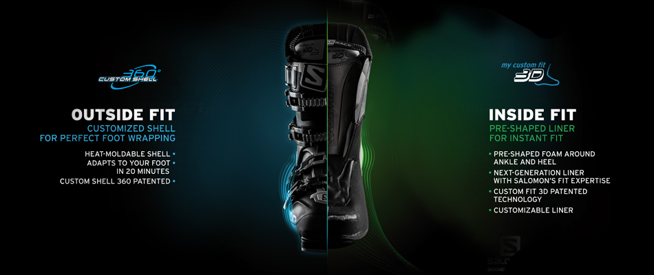 2016 Salomon Ski Boots: Product Line Overview: 360 Custom Shell Technology