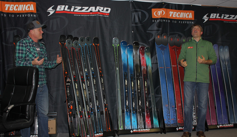 Sam Cook Discussing Blizzard's Freeride Skis