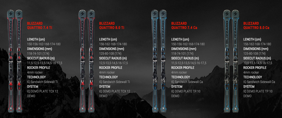 Quattro, Carbon, and Carving: Previewing the 2017 Blizzard Skis Lineup: Unisex Quattro Skis 2
