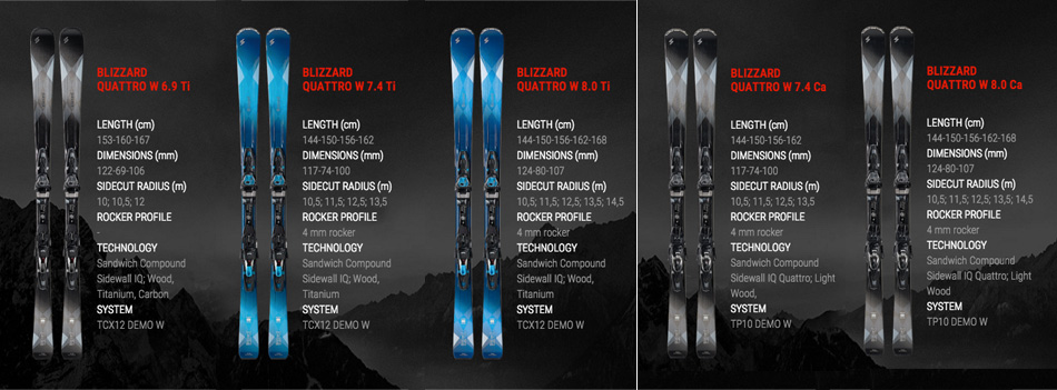 Quattro, Carbon, and Carving: Previewing the 2017 Blizzard Skis Lineup: Women's Quattro Skis