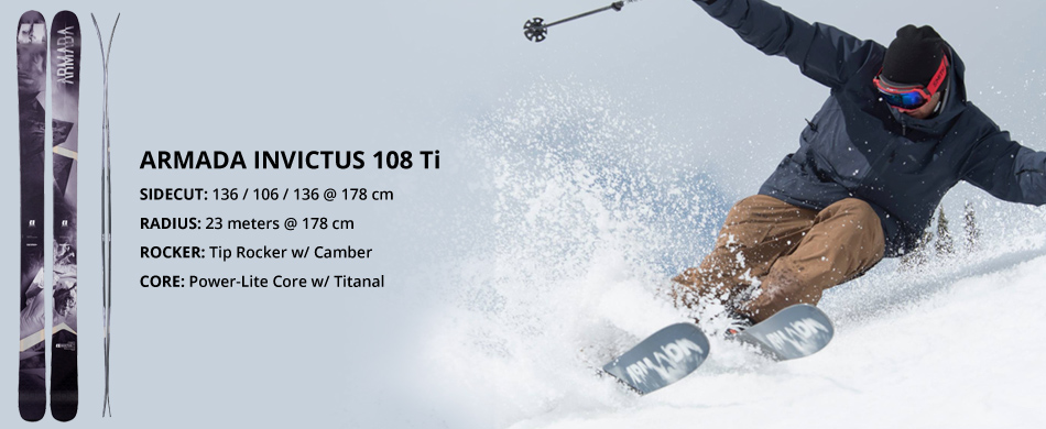 Armada Skis Brand Highlight and Product Overview: Invictus 108 Ti Ski Overview