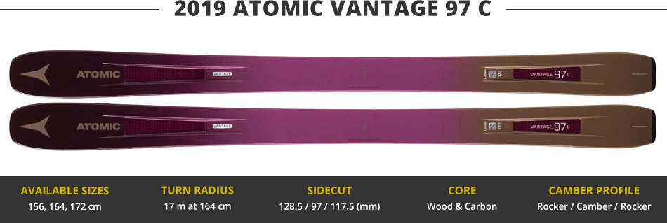 Which Skis Should I Buy? Comparing Women's 100mm Skis - 2019 Edition: 2019 Atomic Vantage 97 C Ski Image