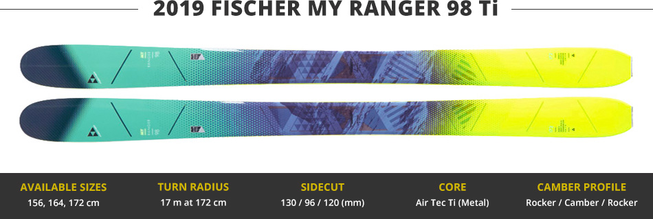 Which Skis Should I Buy? Comparing Women's 100mm Skis - 2019 Edition: 2019 Fischer My Ranger 98 Ti Ski Image