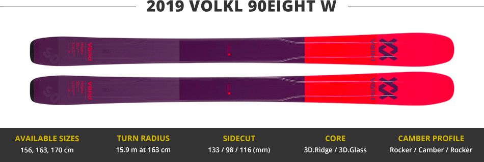 Which Skis Should I Buy? Comparing Women's 100mm Skis - 2019 Edition: 2019 Volkl 90Eight W Ski Image