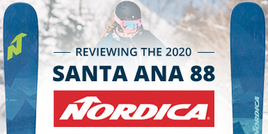 2020 Nordica Santa Ana 88 Ski Review -  Intro Image