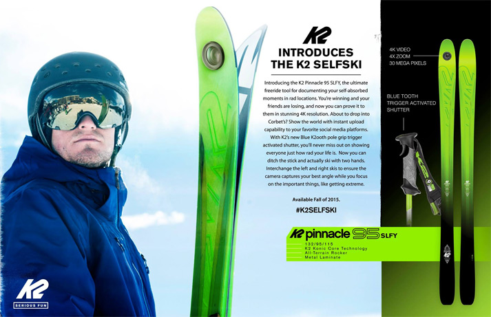Top 5 April Fool's Jokes in Skiing from 2015: K2 SelfSki