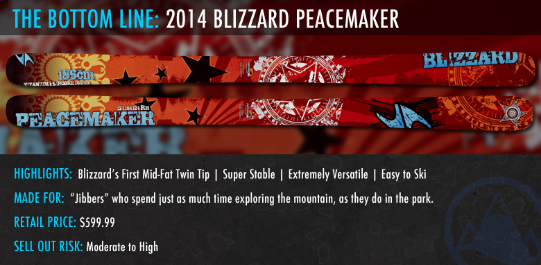 2014 Blizzard Peacemaker Ski Review; The Bottom Line