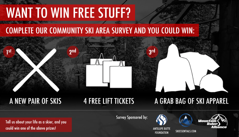 Want to Win Free Stuff? Answer our Community Ski Area Survey!