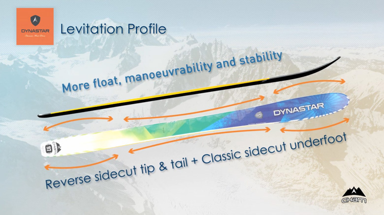2013 Dynastar Cham 107 Skis Review; Levitation Profile