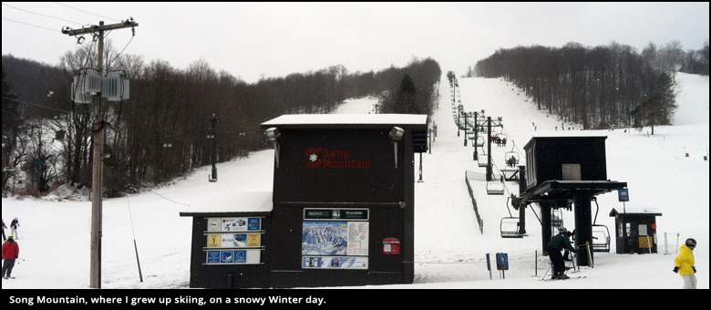 Feeder Hills: Song Mountain ski area in Tully, NY