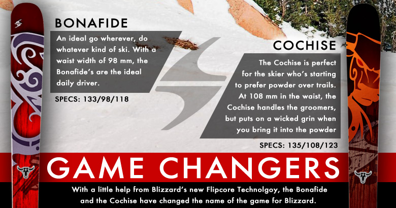 Blizzard Bonafide and Blizzard Cochise; Game Changer Graphic