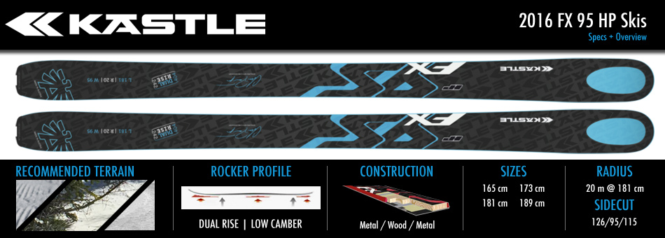 The 2016 Kastle FX 95 HP Ski: High Price, Higher Quality - Ski Spec Sheet