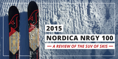 The 2015 Nordica NRGY 100 is the SUV of Skiing: Intro Image