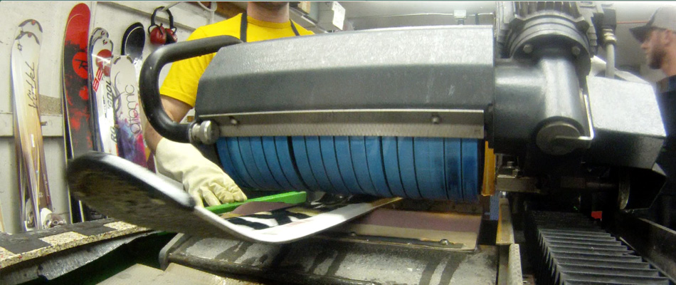 Preseason Ski Tuning Guide: Image of Base Grinding Skis