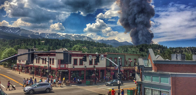 Top Five Fridays July 7, 2017: Breckenridge Forest Fire Image