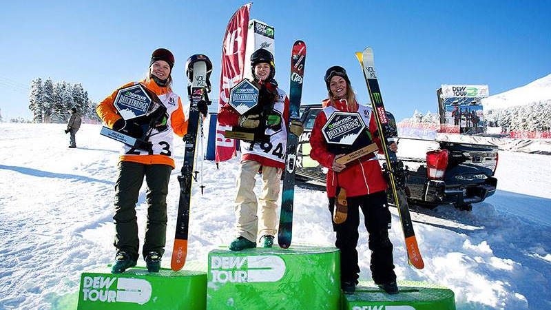 Top Five Fridays December 18, 2015: Dew Tour Women's Slopestyle Podium