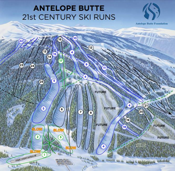 Top Five Fridays February 19, 2016: Antelope Butte Foundation's Proposed Trail Map