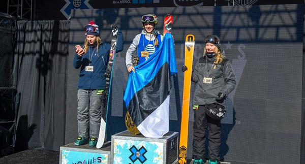 Top Five Fridays February 5, 2016: Kelly Sildaru X-Games Podium Image