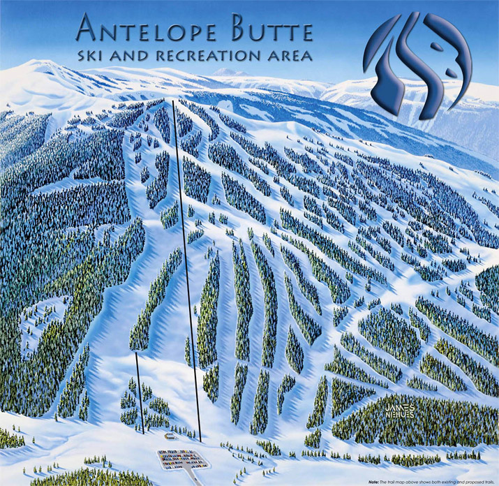 Top 5 Fridays: Trail Map of Antelope Butte Ski Area