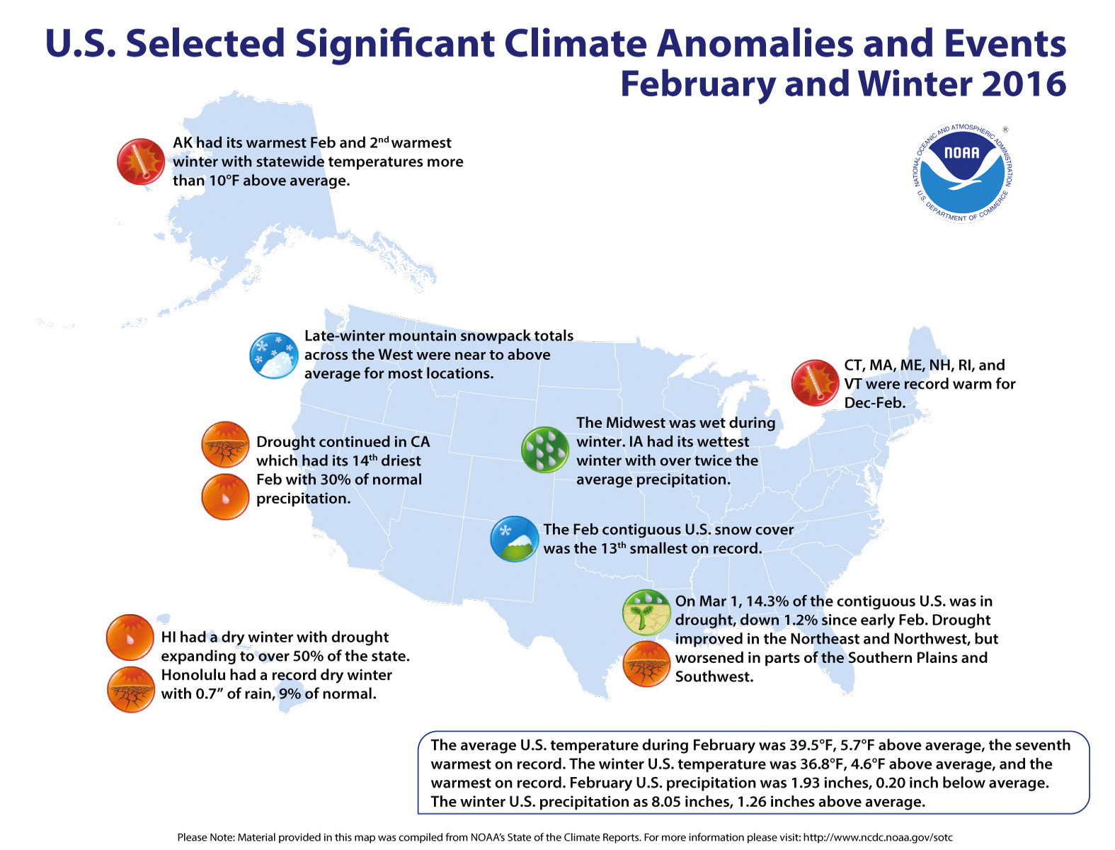 Top Five Fridays March 18, 2016: NOAA's Winter Recap Map