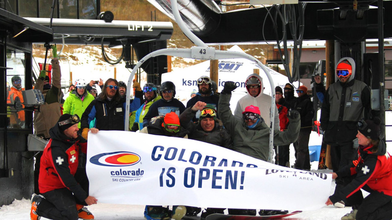 Top Five Fridays October 30, 2015: First Chair at Loveland Ski Resort in Colorado