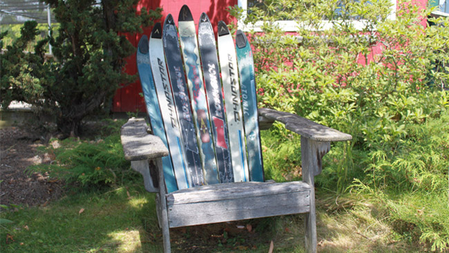 When It's Time to Move On: What to Do With Old Skis: Adirondack Chair Image