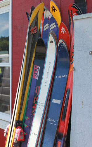 When It's Time to Move On: What to Do With Old Skis: Old Skis Shot