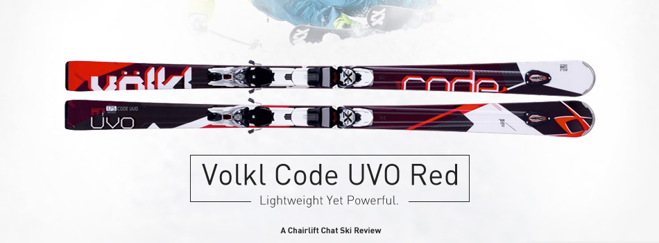2015 Volkl Code UVO Red Skis: Lightweight Yet Powerful - Lead Image