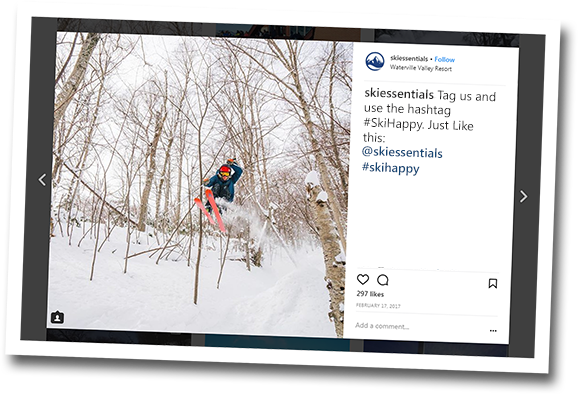 Tag us and use the hashtag #SkiHappy. Just like this: @skiessentials #skihappy